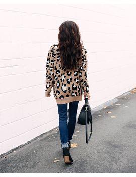 Katz Leopard Knit Sweater by Vici