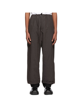 Brown Tailored Pyjama Pants by Y/Project