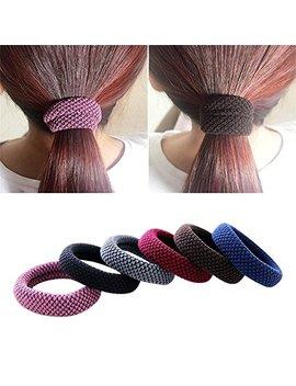 Khalee Hair Elastics Tie Stretch Ponytail Band Thick Hairs Elastics, 6 Pcs by Khalee