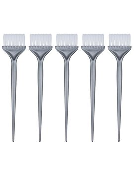 Mudder 5 Pack Hair Dye Coloring Brushes Hair Coloring Dyeing Kit Handle Salon Hair Bleach Tinting Diy Tool (Silver Grey) by Mudder