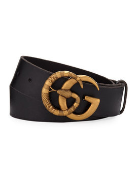 Men's Cuoio Toscano Snake Gg Belt by Gucci