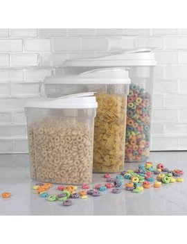 Home Basics 3 Canister Cereal Dispenser Set & Reviews by Home Basics