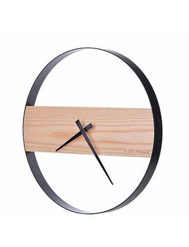 "Ajoli Home Modern Round Non Ticking Battery Operated Wood Wall Clock, 14"" by Ajoli Home"