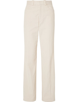 Cotton Corduroy Wide Leg Pants by Helmut Lang