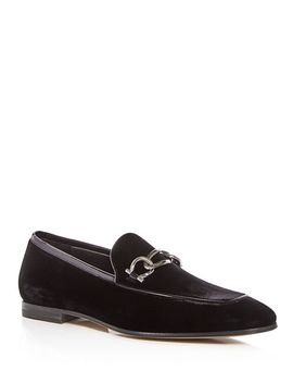 Men's Velvet & Patent Leather Apron Toe Loafers by Salvatore Ferragamo
