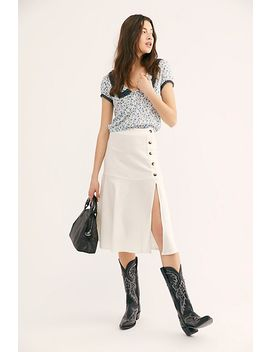 Poppy Flounced Midi Skirt by Free People