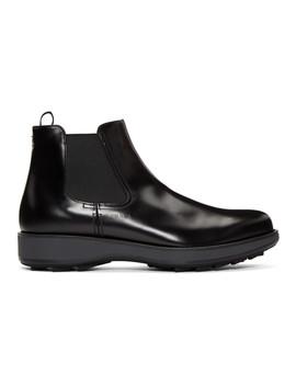Black Rois Chelsea Boots by Prada