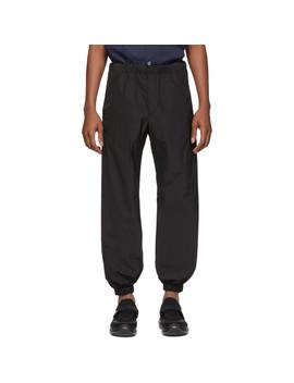 Black Techno Poplin Lounge Pants by Prada