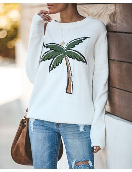 Palm Life Knit Sweater by Vici