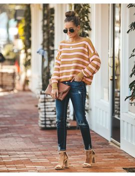 Dixie Striped Cotton Sweater by Vici
