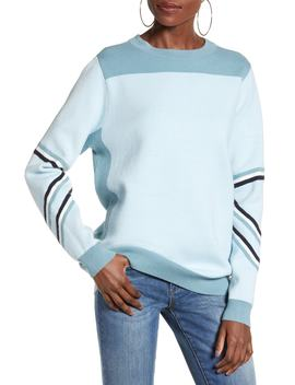 Dama Banning Stripe Detail Sweater by Vero Moda