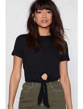 knot-right-now-tie-crop-top by nasty-gal