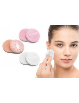 2 X New Powder Puff Cosmetic Makeup Sponges Beauty Face Foundation by Ebay Seller
