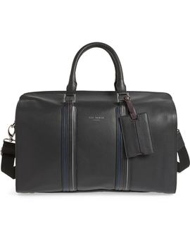 Geeves Stripe Leather Duffel Bag by Ted Baker London