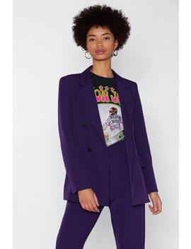 Suiting For You Blazer by Nasty Gal
