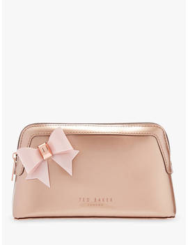 Ted Baker Aubrie Bow Makeup Bag, Gold by Ted Baker