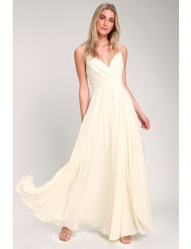 All About Love Cream Maxi Dress by Lulus