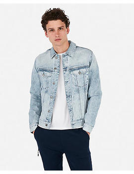 Medium Wash Denim Trucker Jacket by Express