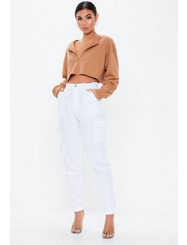 Brown Zip Inserted Sweatshirt by Missguided
