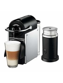 Nespresso Pixie Coffee Machine By De'longhi With Aeroccino Milk Frother   Aluminum by Amazon