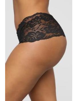 Perfect Everyday Lace Waist Boyshort Panty   Black by Fashion Nova