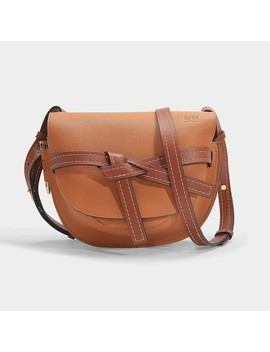 Gate Small Bag In Brown Grained Calfskin by Loewe