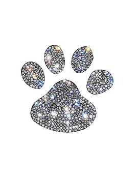 Ling's Boutique(Tm) Various Patterns Of Crystal Car Stickers,Decorate Cars Bumper Window Laptops Luggage Rhinestone Sticker,White (Mini Footprint) by Ling's Boutique