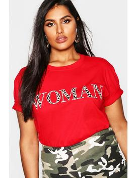 Plus Woman Leopard Oversized T Shirt by Boohoo