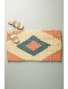 Coral Diamond Doormat by Anthropologie