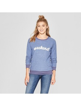 Women's Weekend Graphic Pullover Sweatshirt   Grayson Threads (Juniors') Blue by Grayson Threads