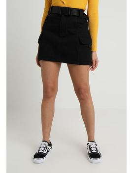 Clip Belt Skirt   Jeansrock by Topshop Petite