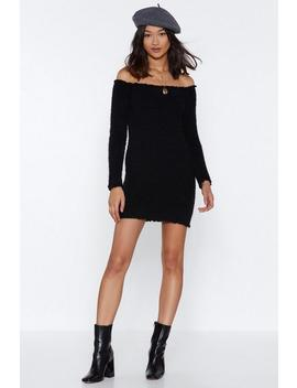 Bardot Fluffy Knitted Dress by Nasty Gal