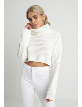 Roll Neck Crop Jumper   Strickpullover by Missguided Petite