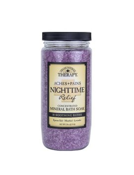 Village Naturals Therapy, Aches & Pains Nighttime Relief Mineral Bath Soak, 20 Oz by Village Naturals