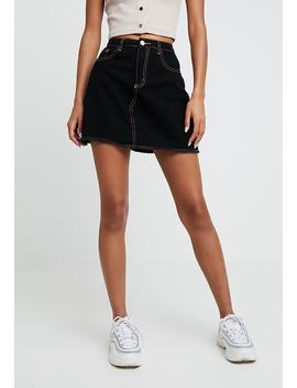 Contrast Stitch Skirt   A Linien Rock by Missguided