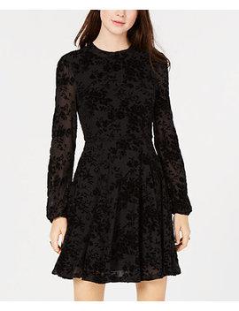 Juniors' Burnout Velvet Fit & Flare Dress, Created For Macy's by American Rag