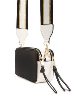 Colorblock Metallic Trim Crossbody by Forever 21