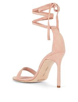 Chaosbow Suede Sandals by Manolo Blahnik