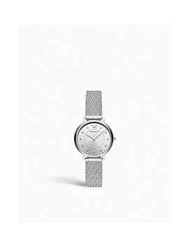 Ar11128 Kappa Stainless Steel And Diamante Watch by Emporio Armani