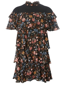 **Vero Moda Black Mesh Floral Shift Dress by Dorothy Perkins