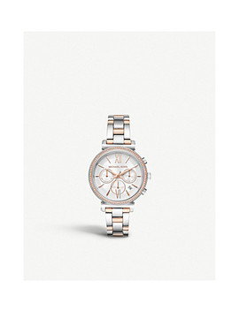 Mk6558 Sofie Two Tone Stainless Steel Chronograph Watch by Michael Kors