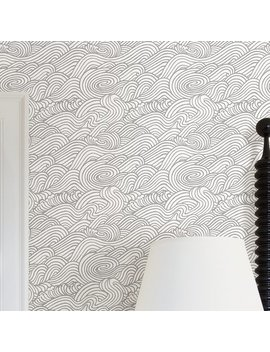 "Mistana Ryker Mare 33' X 20.5"" Wave Wallpaper Roll & Reviews by Mistana"