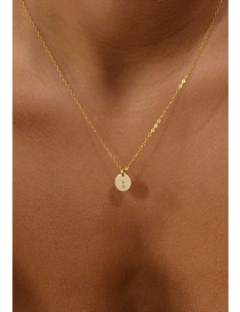 Poise 14k Gold Filled Hand Stamped Tiny Initial Necklace by Raniska
