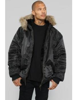 Trap Lord Puffer Jacket   Black by Fashion Nova