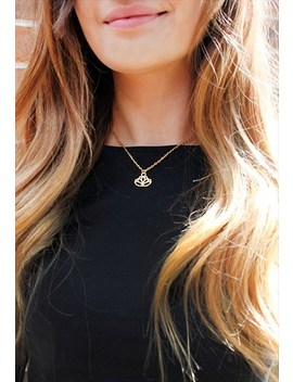 Golden Lotus Necklace by Hanas.