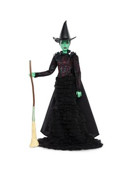 Barbie Wicked Elphaba Doll In Act Ii Costume With Hat & Broom by Barbie