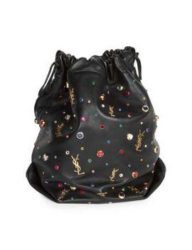 Leather Bucket Bag by Saint Laurent