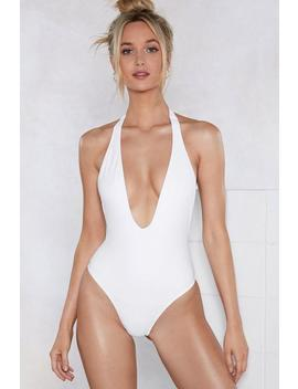 Take The Plunge Halter Swimsuit by Nasty Gal