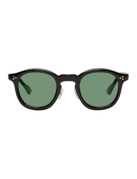 Black Round Sunglasses by Wacko Maria