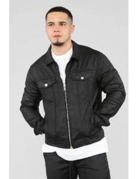 Hamilton Denim Jacket   Black by Fashion Nova